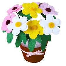 office flower pots. flower pots home office decorative creative colorful craft cloth sewing diy kit nonwoven potted plant project e