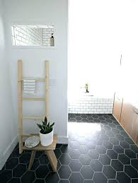 hexagon tile bathroom floor best black ideas on mosaic hex backsplash