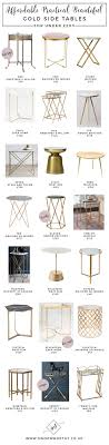 Metal Side Tables For Bedroom 17 Best Ideas About Gold Side Tables On Pinterest Gold Accent