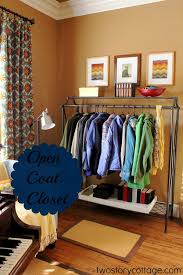 Double Coat Rack Attractive Visible Coat Storage A Glimpse Of The Living Room 35