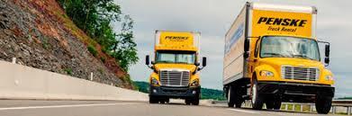 penske commercial truck rental business truck rentals penske trucks on the road