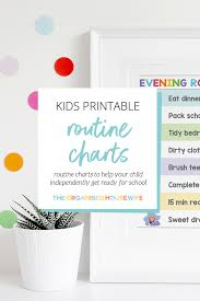 Kids Printable Routine Charts The Organised Housewife