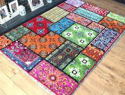 bright rugs new multi coloured patchwork funky rug large carpets runners colorful area for playrooms
