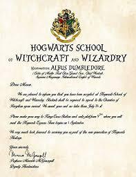 Amazon Com Personalized Harry Potter Acceptance Letter Hogwarts