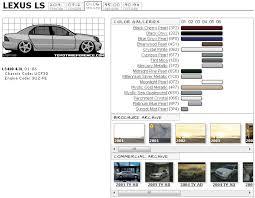 Car Colour Codes Chart Lexus Ls400 Paint Chart And Media Archive Clublexus