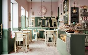 new heights furniture. a pink and green cafe with wooden bar tables stools new heights furniture s
