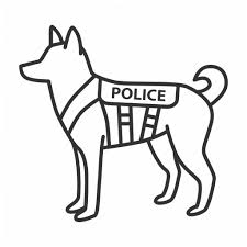 Animal Cop Police Linear Outline By Bsd Studio