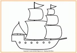 Pilgrim Ship Colour By Number Thanksgiving Colouring Pages For Kids