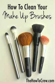 how to easily clean your makeup brushes at home