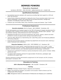 Resume Samples For Administrative Assistant Reference Executive