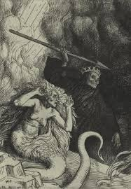 best john milton images paradise poem and writers ldquosin and death at the gates of hell rdquo an illustration from paradise lost