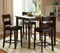 389 00 5pcs counter height set dining table and 4 counter height chairs