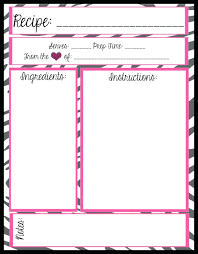 recipe book with free printable binder kit templates pics mesas place full page cookbook pages template