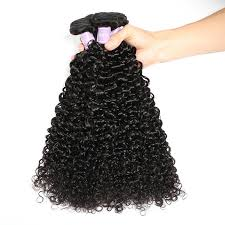 Dsoar 3 Bundles Peruvian Virgin Curly Human Hair Weave With 413 Lace Frontal