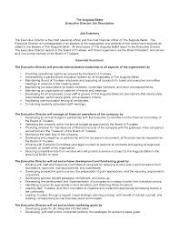 Nonprofit Cfo Job Description Template Templates International