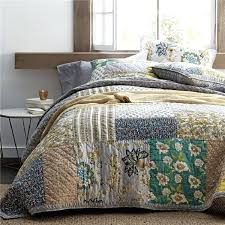 vintage patchwork bedspread quilt set quilted bedding handmade cotton quilts bed covers king size coverlet blanket