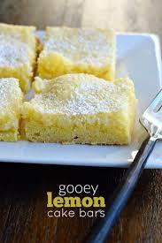 Gooey Lemon Cake Bars Recipe