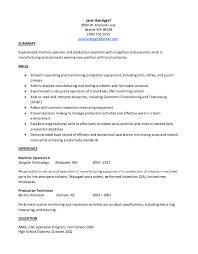 6 Best Photos Of Sample Resume For Manufacturing Technician