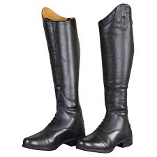 moretta gianna leather riding boots wide black