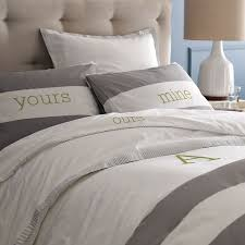 stripe duvet cover shams whitefeather gray west elm throughout grey striped duvet cover renovation