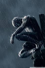 spider man in the rain ultra hd desktop