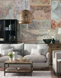 zones bedroom wallpaper: living room with map design wallpaper mural