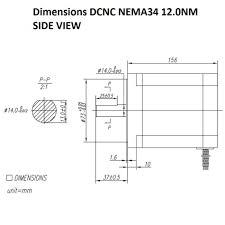 damencnc com stappenmotoren stepper motor dcnc nema34 12 0nm