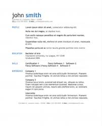 Pages Resume Templates Amazing Simple Modern Resume Template For Pages Free IWork Templates