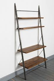 Industrial Bookcase Diy Articles With Leaning Ladder Bookshelf Ikea Tag Wall Ladder Shelf