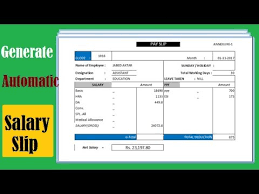 Payroll Free Software Download Excel Automatic Salary Slip Generator Using Excel Use Vlookup Excel All Version