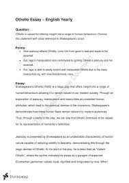 year english othello essay year hsc english advanced year 11 english othello essay