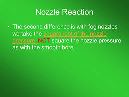 Nozzle Reaction Chart Hydraulics Lets Do Some Math Ppt Download
