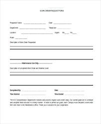 Extra Work Order Template Extra Work Order Template Use This Form To Request