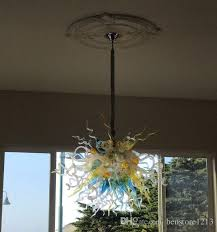 new trending custom american chandelier light modern living room dining room hanging pendant lamps hand blown glass led chandelier track pendant lighting