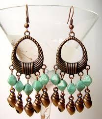 beaded cute chandelier earrings chandelier earrings with s copper tone earrings with turquoise glass beads