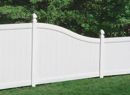 Plain Vinyl Privacy Fence Ideas White Fencing Fences Chesterfield Inside Decorating
