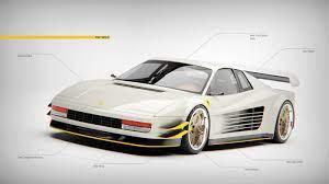 Jordan belfort's white 1991 ferrari testarossa has just 8,000 miles on. Wolf Of Wall Street Widebody Ferrari Testarossa Rendered With Digital Mirrors Autoevolution