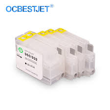 4 Colors For HP 932 933 932XL 933XL <b>Empty Refillable Ink</b> ...
