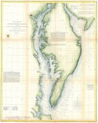 File 1855 U S Coast Survey Chart Or Map Of Chesapeake Bay