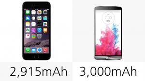 iphone 6 battery size iphone 6 plus vs lg g3 s non