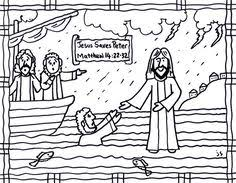 Small Picture Jesus Walks on Water Coloring Page Bible Jesus and His Miracles