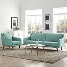 modway verve living room set upholstered set of 2 armchair and sofa multiple colors blue