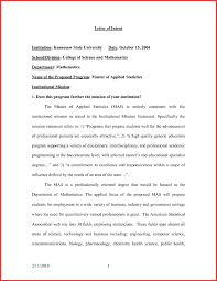 Letter Of Intent Template Graduate School Examples Letter Templates