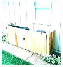 trash can holder plans outdoor average enclosure storage shed bins garbage wooden bin free wood