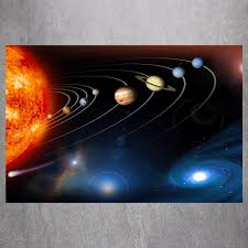 the solar system 3d canvas art print painting poster wall picture for living room home decorative on solar system 3d wall art with the solar system 3d canvas art print painting poster wall picture
