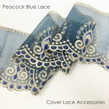 Captivating Peacock Blue Lace For Table Cloth Sofa Cover Fringes Dress Home Decorative  Accessories Sell By Bale