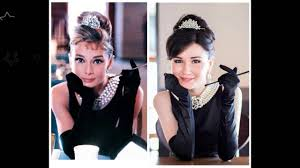 audrey hepburn breakfast at tiffany s inspired make up hair and look details