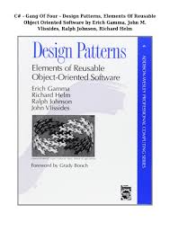 Gang Of Four Design Patterns Pdf Free Download Pdf Download C Gang Of Four Design Patterns Elements