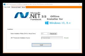 offline las dependencias net framework