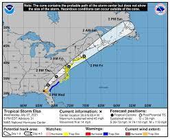 Tropical Storm Elsa path: Raleigh ...